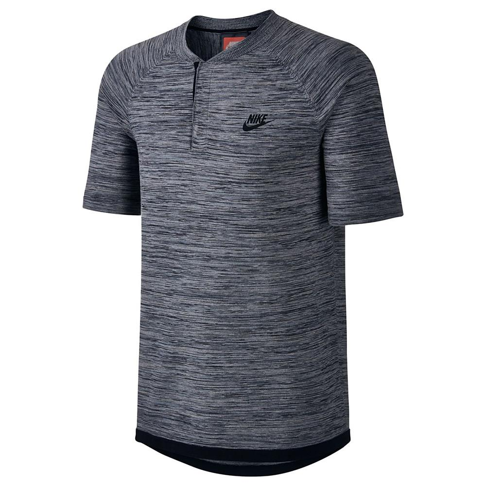 Style code 846409-091. NIKE SPORTSWEAR TECH KNIT POLO / CARBON HEATHER