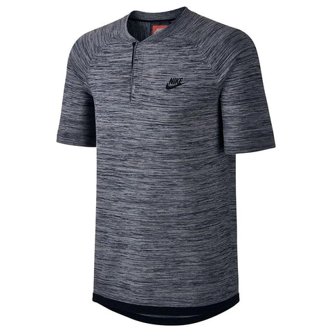 NIKE SPORTSWEAR TECH KNIT POLO / CARBON HEATHER