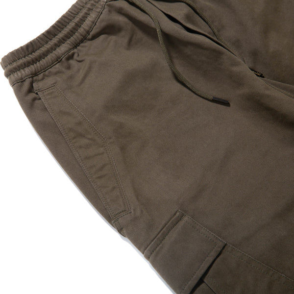 Maharishi Loose Cropped Cargo Trackpants / Mil Olive