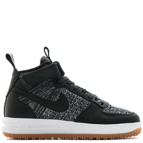 NIKE LUNAR FORCE 1 FLYKNIT WORKBOOT BLACK / WHITE - 1