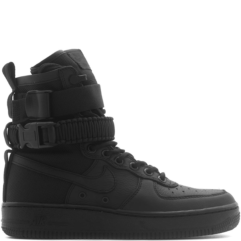 Style code 857872-002. NIKE WOMEN'S SF AIR FORCE 1 / BLACK