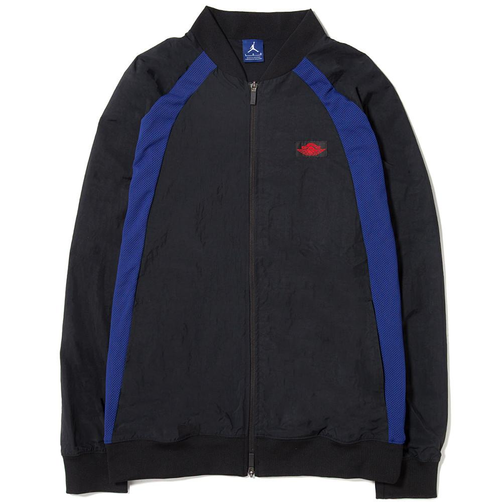style code 872861-010. JORDAN 1 TIER ZERO WINGS JACKET BLACK / DEEP ROYAL BLUE