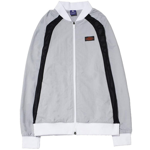 style code 872861012 . JORDAN 1 TIER ZERO WINGS JACKET WOLF GREY / BLACK