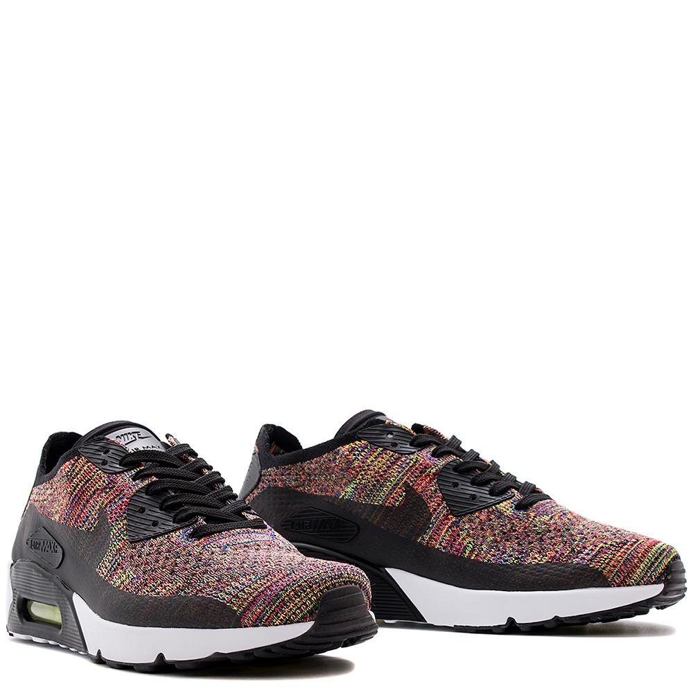 NIKE AIR MAX 90 ULTRA 2.0 FLYKNIT BLACK / CRIMSON . 875943-002