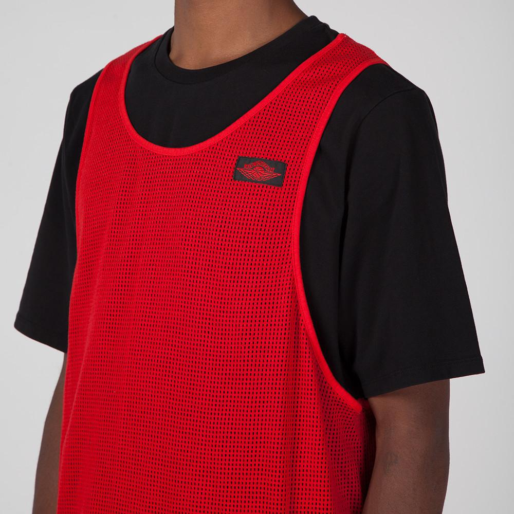 JORDAN BLUE LABEL TIER ZERO MESH OVERLAY T-SHIRT / UNIVERSITY RED