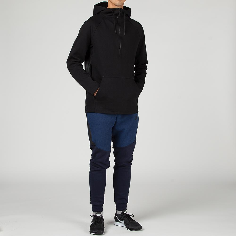 NIKE SPORTSWEAR TECH FLEECE HOODIE / BLACK