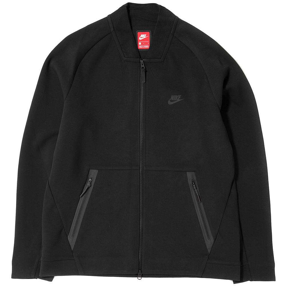 NIKE SPORTSWEAR TECH FLEECE VARSITY JACKET / BLACK