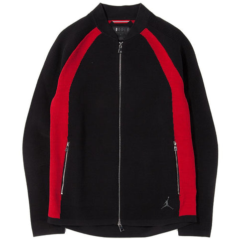 style code 891291011. JORDAN SPORTSWEAR FLIGHT KNIT JACKET / BLACK