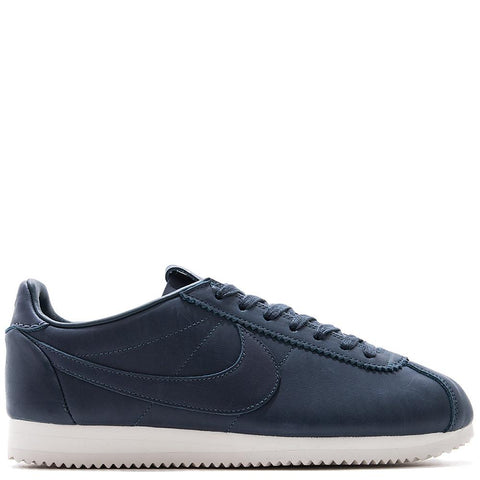 NIKE CORTEZ PREMIUM TZ QS / THUNDER BLUE. 898088-400. Premium leather black nike cortez quick strike.