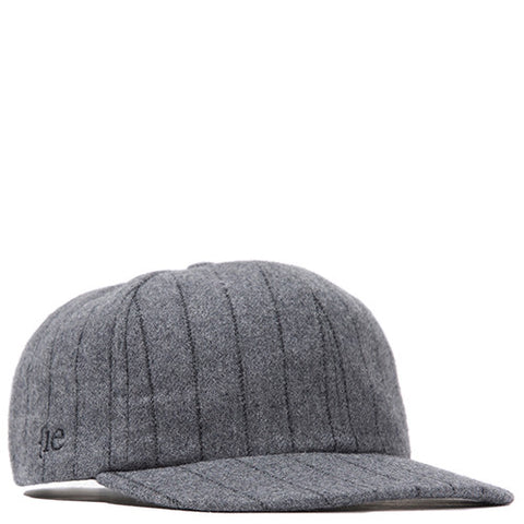 {ie STRIPED WOOL 19TWENTY STRAP BACK / HEATHER GREY PINSTRIPE - 1