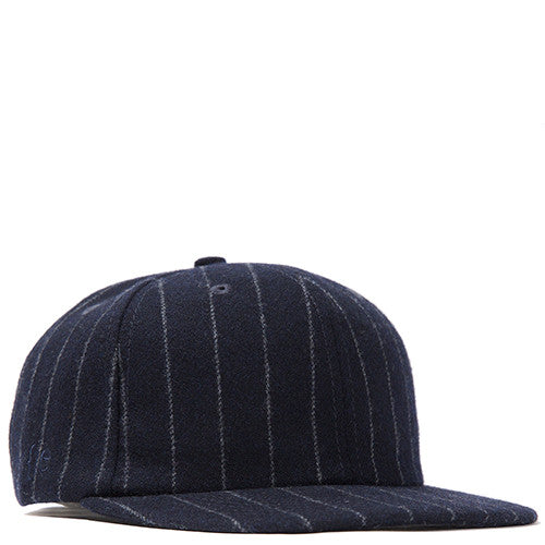 {ie STRIPED WOOL 19TWENTY STRAP BACK / NAVY PINSTRIPE - 1