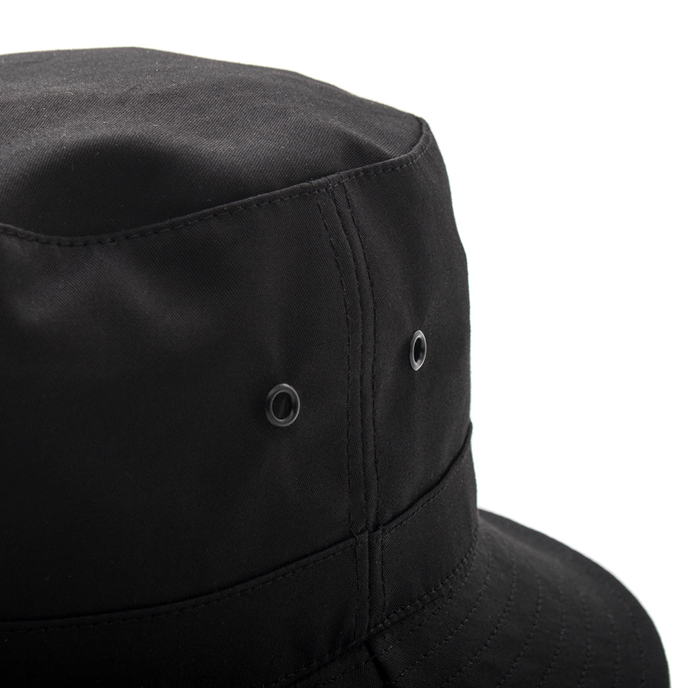 style code 9031ACF17BLK. {ie BUCKET HAT / BLACK FACE BRITISH MILLERAIN