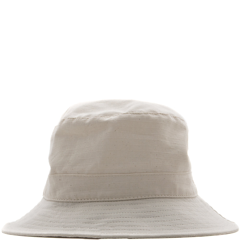 Style code 9031ACS18NAT. {ie BUCKET HAT / NATURAL RIPSTOP