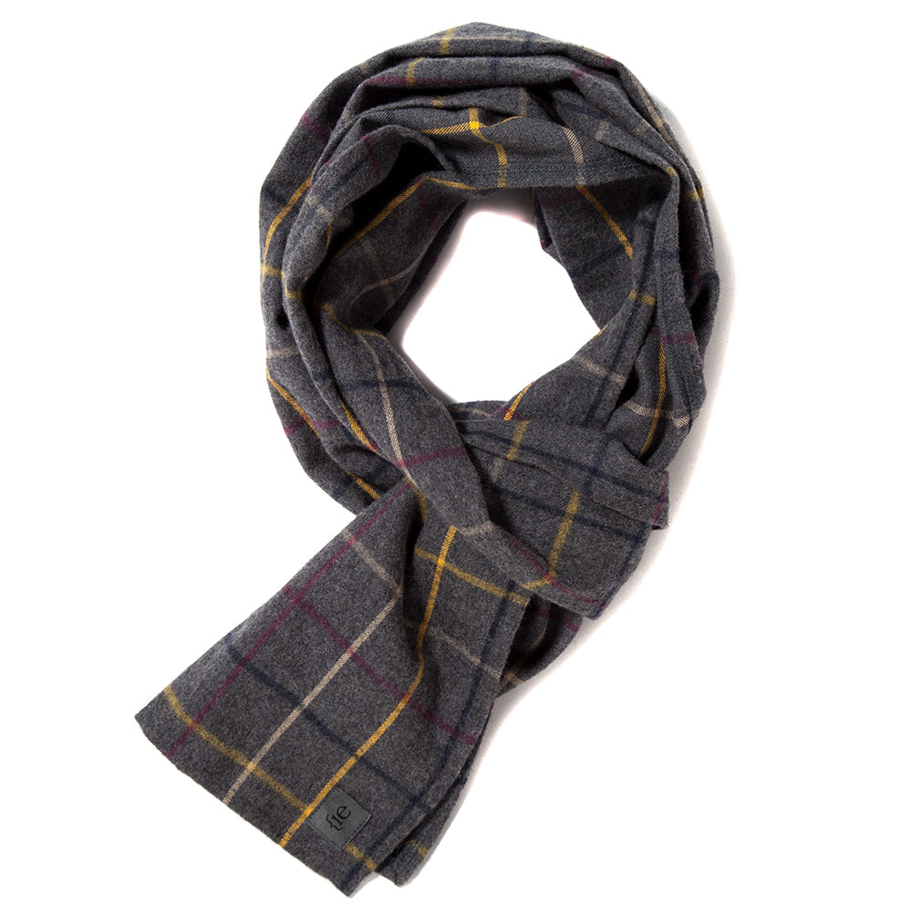 {ie Scarf / Grey Plaid