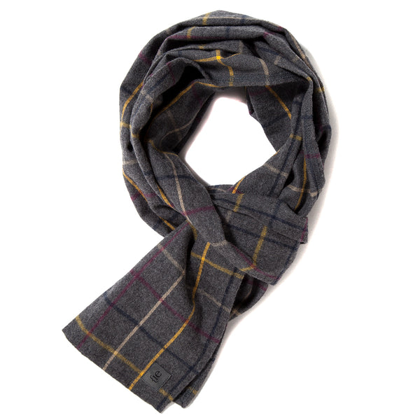 {ie Scarf / Grey Plaid - Deadstock.ca