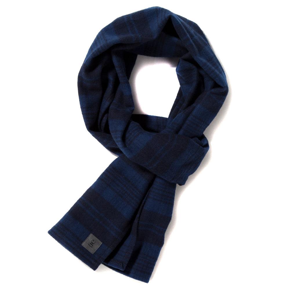 {ie Scarf / Navy Plaid - Deadstock.ca