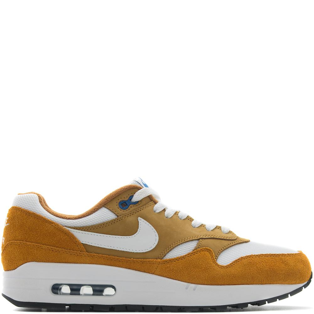Style code 908366-700. Nike x Atmos Air Max 1 Premium Retro / Dark Curry