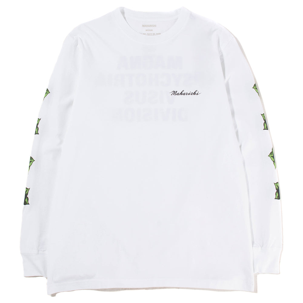 Maharishi Pax Cultura Long Sleeve T-shirt / White - Deadstock.ca