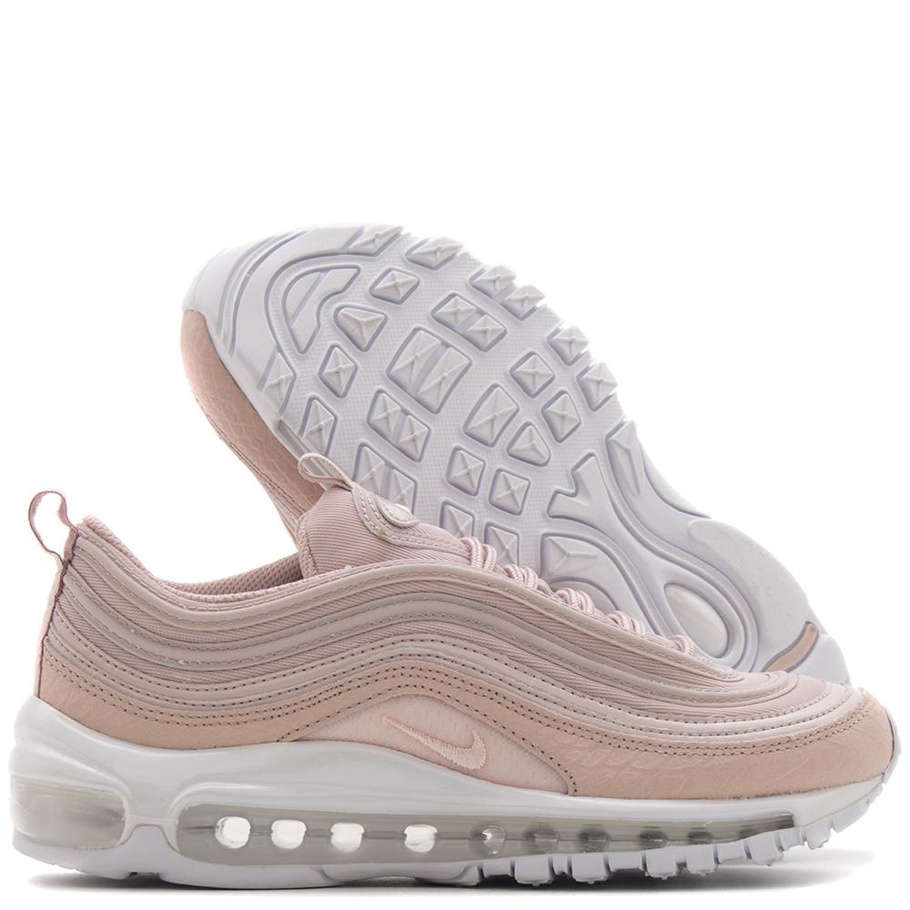 style code 917646-600. NIKE WOMEN'S AIR MAX 97 PREMIUM / SILT RED