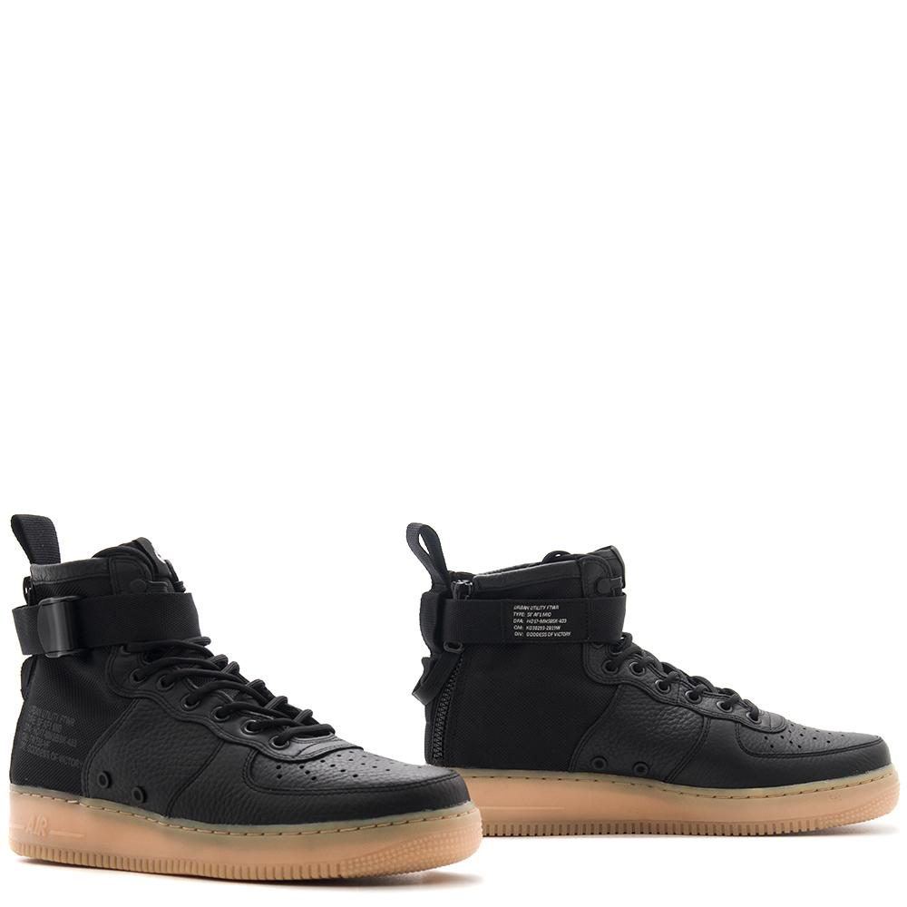 style code 917753-003. NIKE SF AIR FORCE 1 MID / BLACK