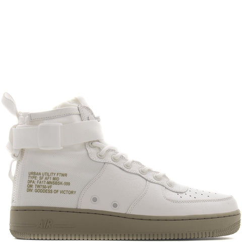 style code 917753-101. NIKE SF AIR FORCE 1 MID IVORY / NEUTRAL OLIVE