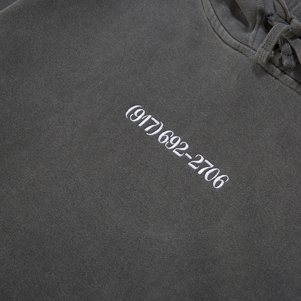 Nine One Seven Small Dialtone Pullover Hoodie / Pigment Dyed Black