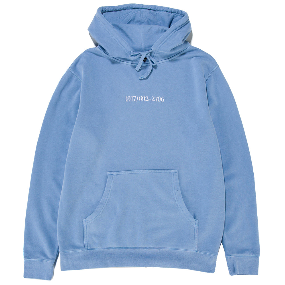 Nine One Seven Small Dialtone Pullover Hoodie / Pigment Dyed Blue