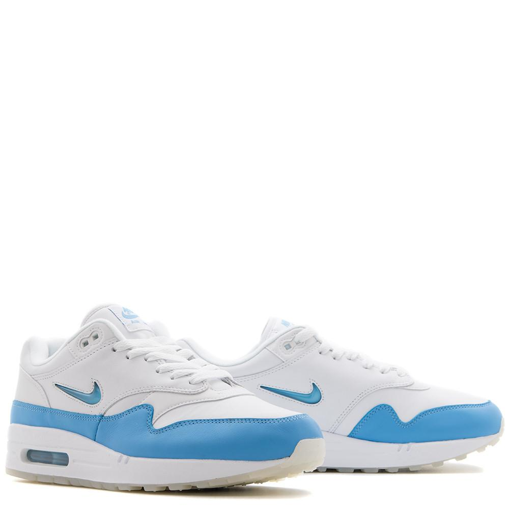 NIKE AIR MAX 1 PREMIUM SC QS WHITE / UNIVERSITY BLUE