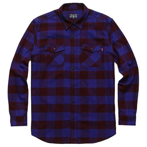 ACAPULCO GOLD BRUCKNER FLANNEL BUTTON UP / PLUM - 1