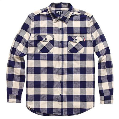 ACAPULCO GOLD BRUCKNER FLANNEL BUTTON UP / OFF WHITE - 1