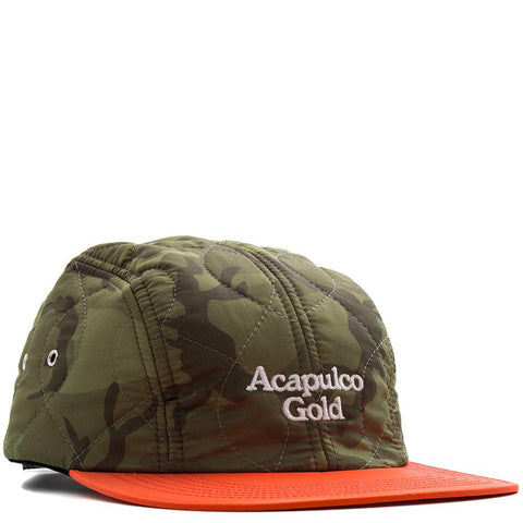 ACAPULCO GOLD OUTLAND QUILTED SPORT CAP / GREEN CAMO - 1