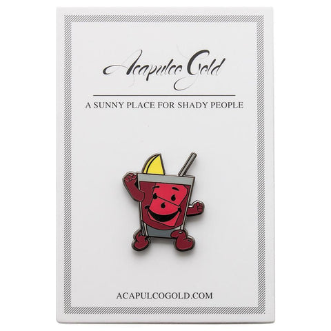 ACAPULCO GOLD LAPEL PIN / DRINK MAN . Style code AGFA16O