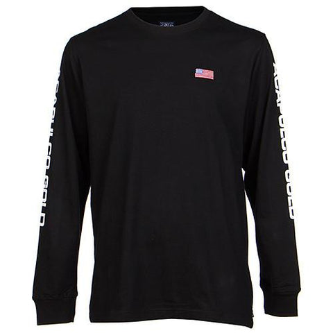 ACAPULCO GOLD AG SPORT LONG SLEEVE T-SHIRT / BLACK - 1