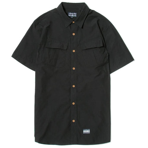 ACAPULCO GOLD MILITARY S/S FIELD SHIRT / BLACK