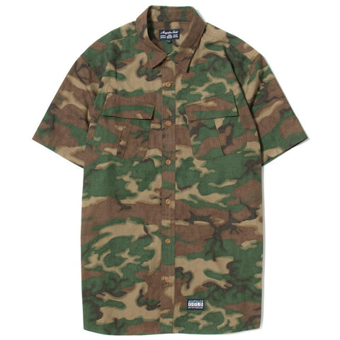 ACAPULCO GOLD MILITARY S/S FIELD SHIRT / WOODLAND CAMO