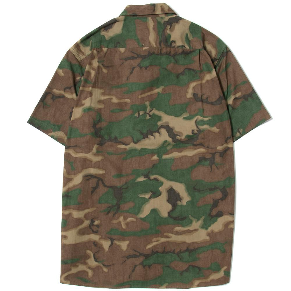 style code AGSP171007CAM.ACAPULCO GOLD MILITARY S/S FIELD SHIRT / WOODLAND CAMO