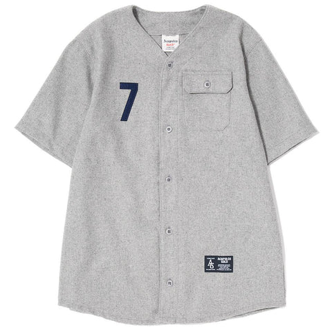 style code AGSP171008. ACAPULCO GOLD SEVEN BASEBALL JERSEY / HEATHER GREY