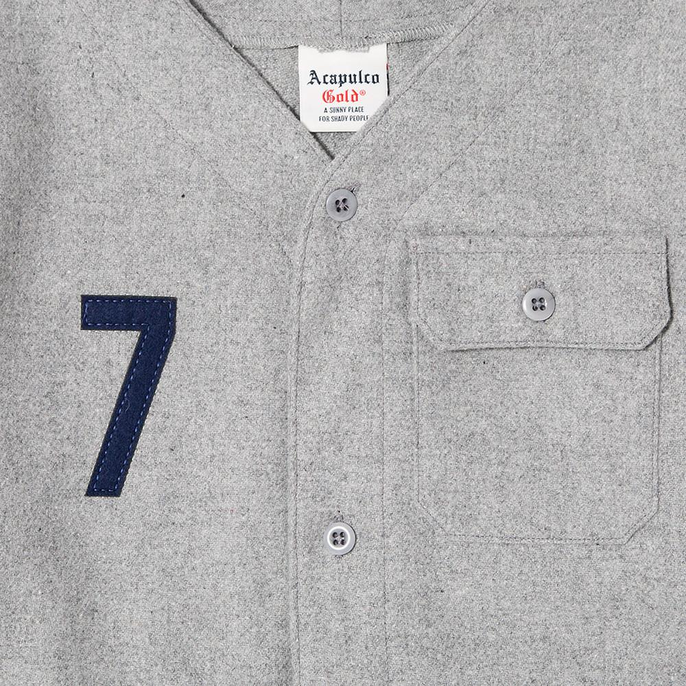 ACAPULCO GOLD SEVEN BASEBALL JERSEY / HEATHER GREY