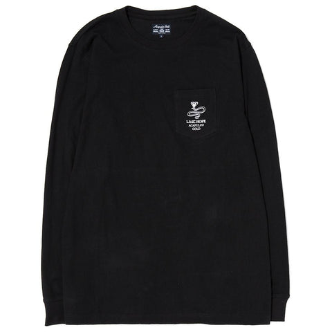 style code AGSP171011BLK. ACAPULCO GOLD LAST HOPE POCKET LONG SLEEVE / BLACK