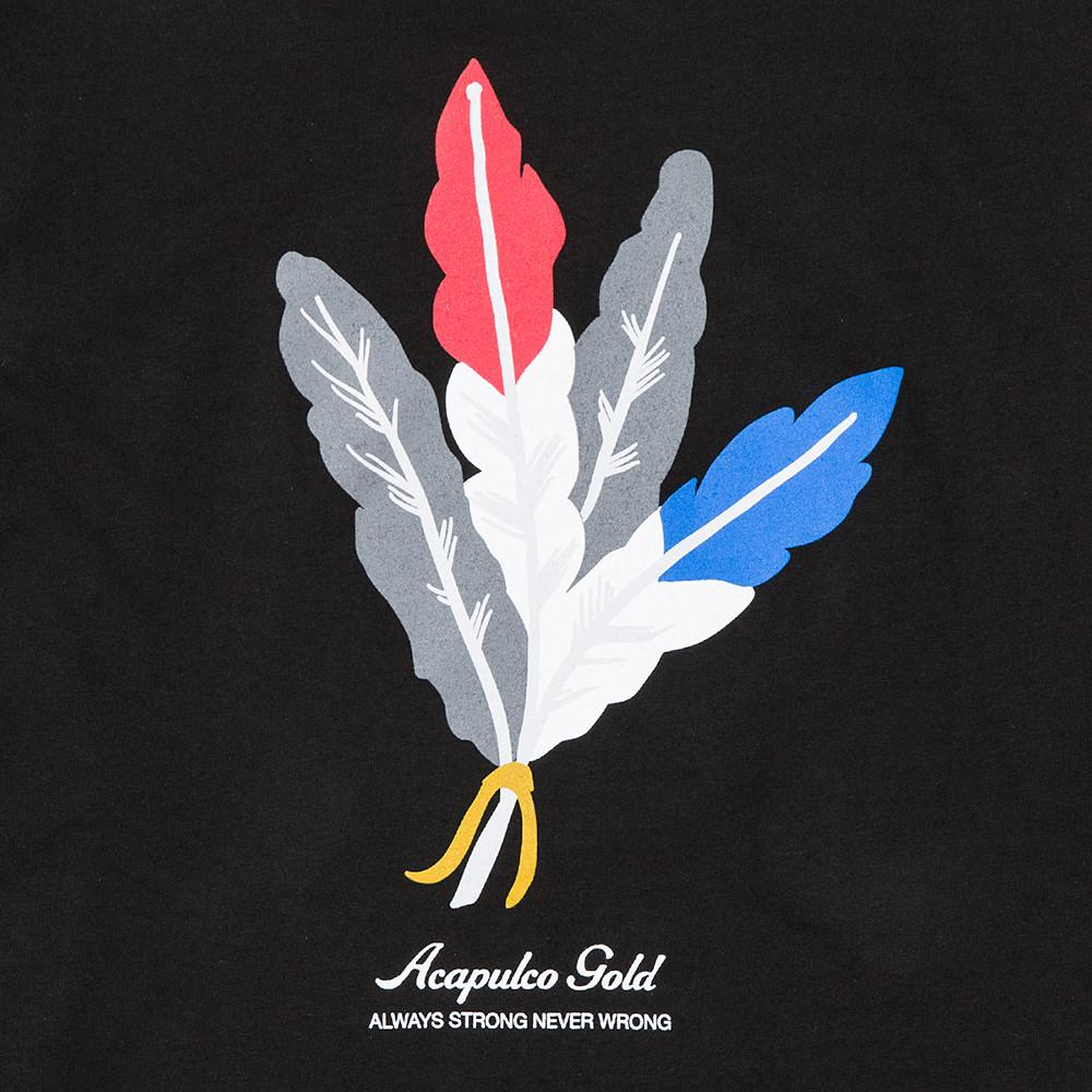 ACAPULCO GOLD FEATHERS T-SHIRT / BLACK