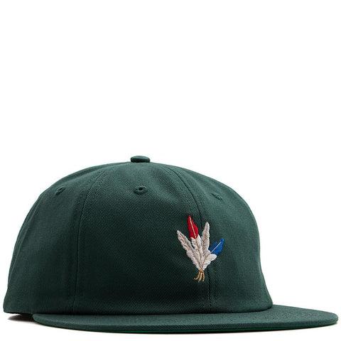 ACAPULCO GOLD FEATHERS 6 PANEL CAP DARK GREEN