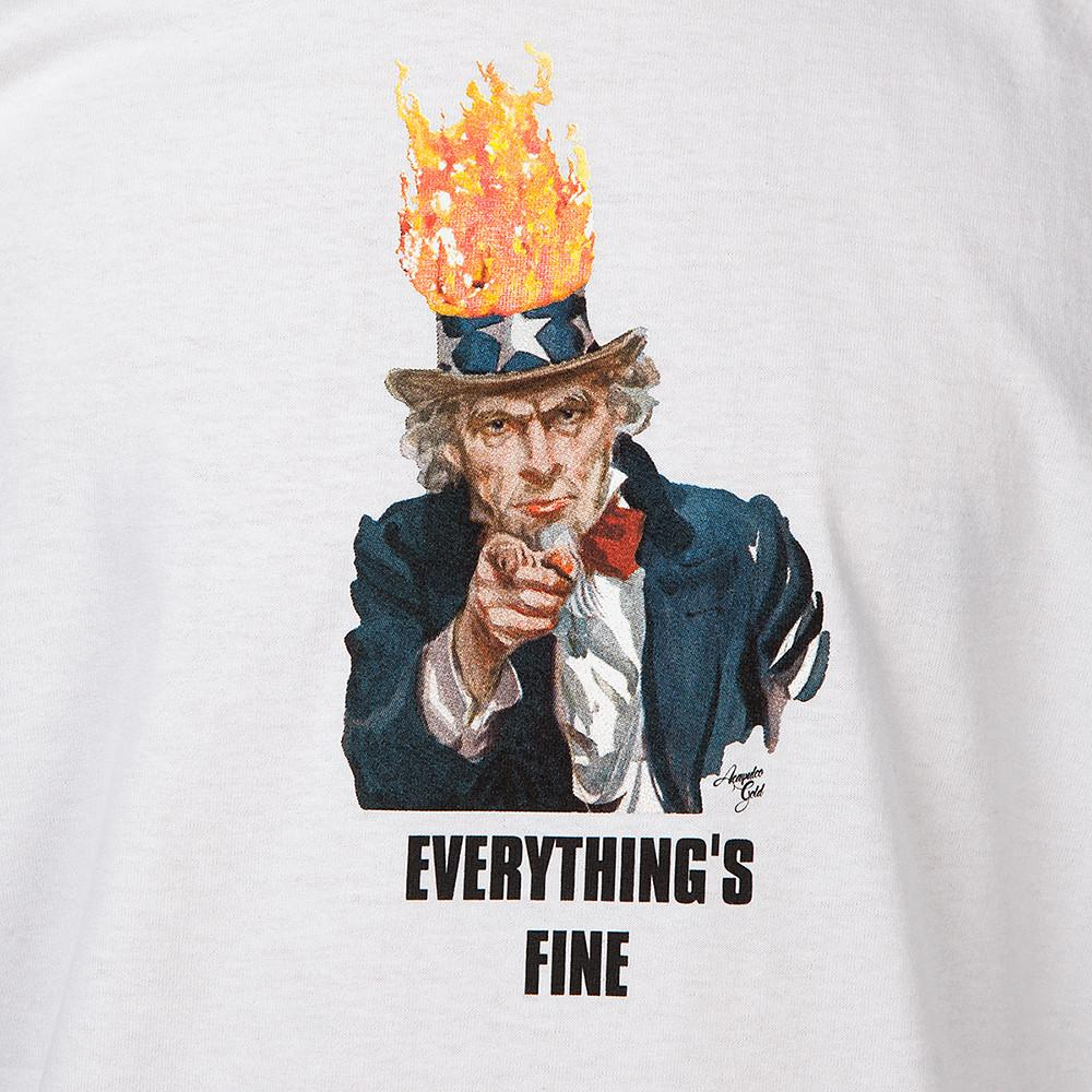 ACAPULCO GOLD EVERYTHING'S FINE T-SHIRT / WHITE