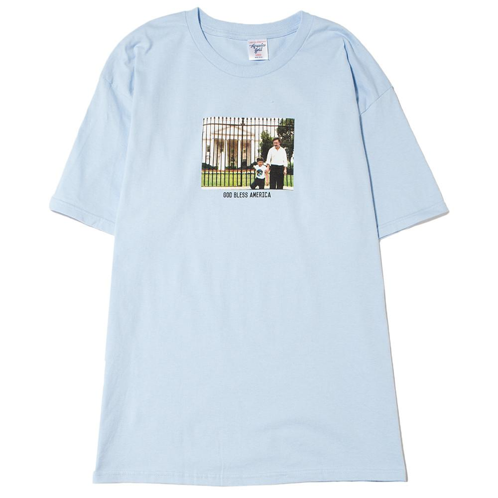style code AGSU1705BLU. ACAPULCO GOLD FATHERS DAY T-SHIRT / LIGHT BLUE