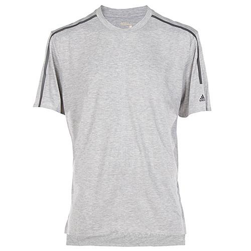 ADIDAS STANDARD S19 CLIMACOOL T-SHIRT / MEDIUM GREY HEATHER - 2