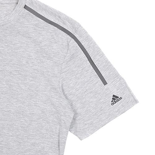 ADIDAS STANDARD S19 CLIMACOOL T-SHIRT / MEDIUM GREY HEATHER - 5