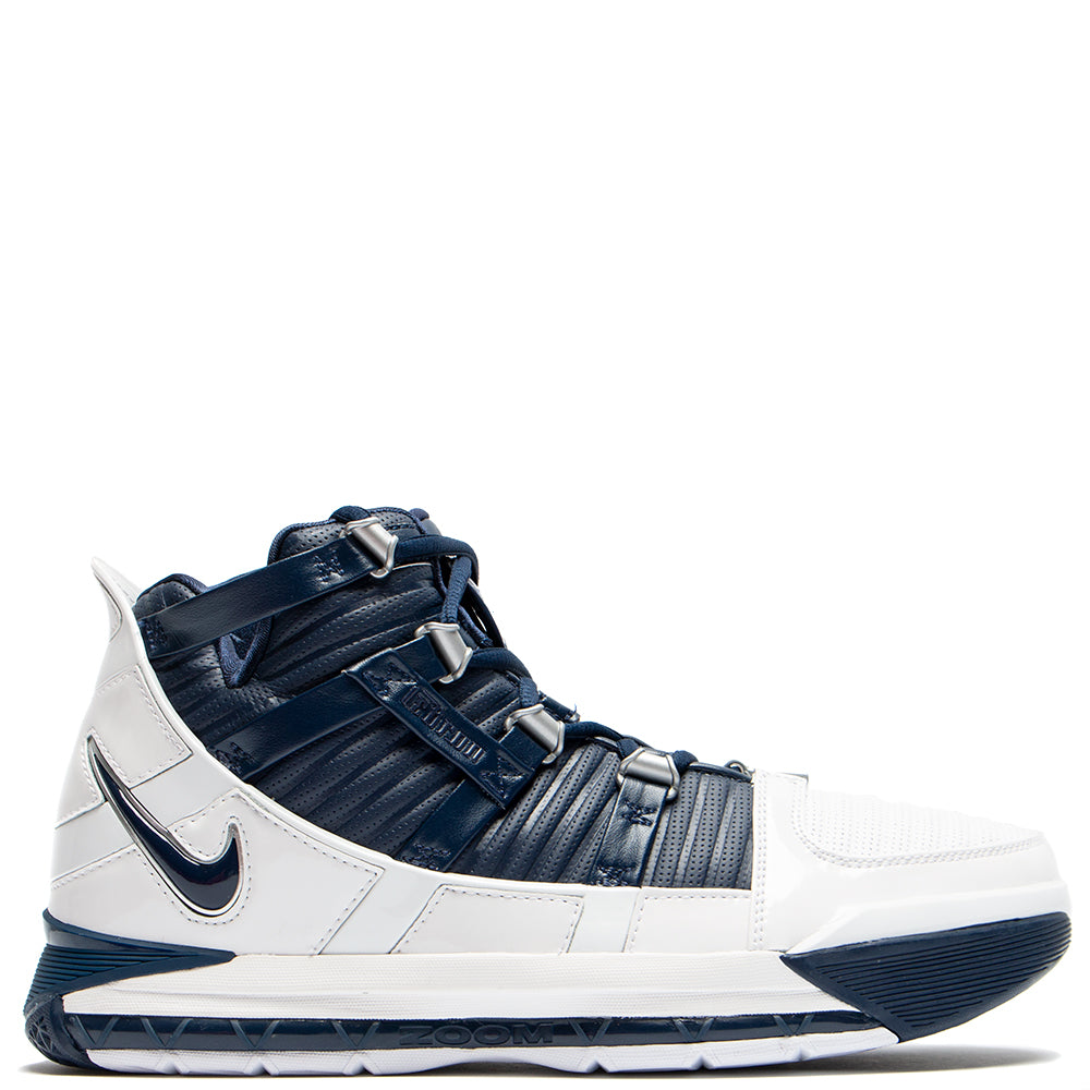 ao2434103 Nike Zoom Lebron III QS White / Midnight Navy