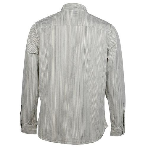 GARBSTORE BUTTON UP HEAVY TWO POCKET SHIRT STRIPED JAPANESE COTTON / ECRU - 2