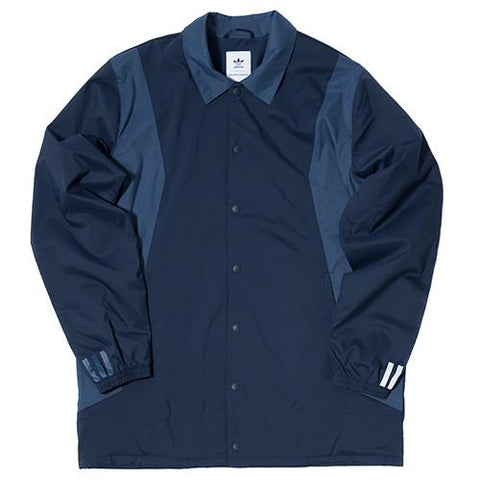 ADIDAS BY WHITE MOUNTAINEERING LONG BENCH JACKET / COLLEGIATE NAVY . style code AY3115.