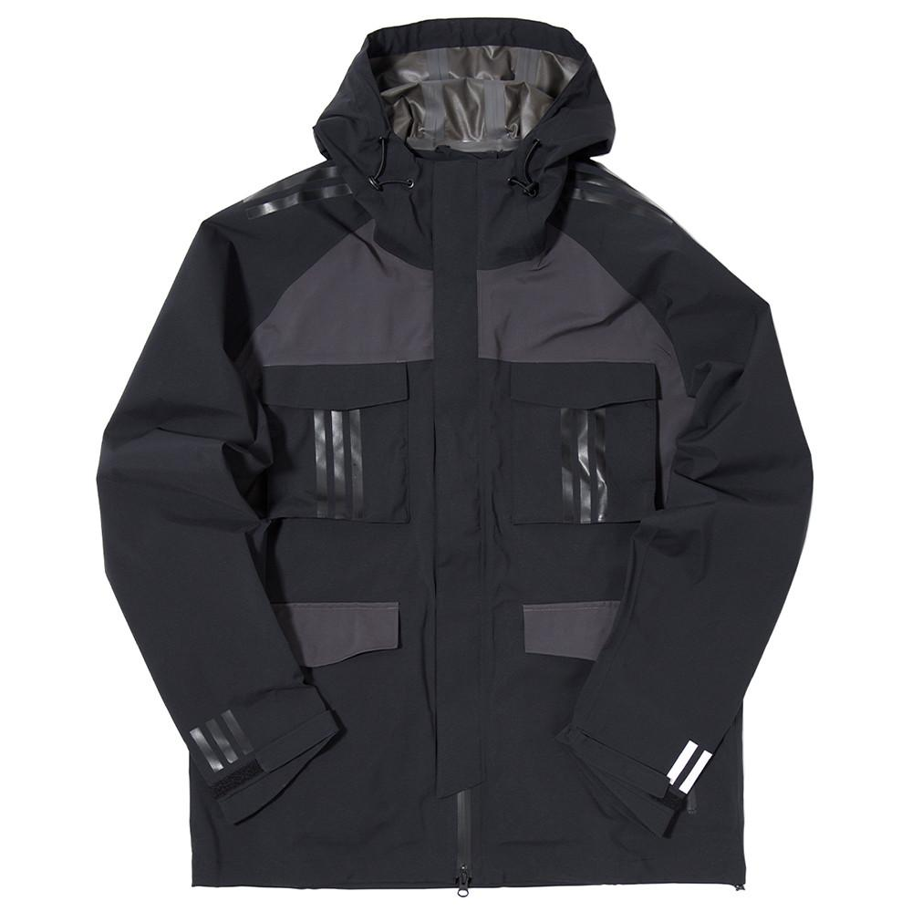 ADIDAS BY WHITE MOUNTAINEERING SHELL GORE-TEX JACKET / BLACK - 1