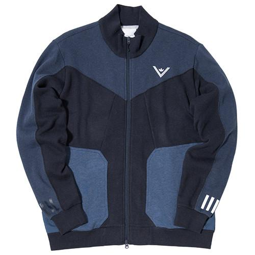 ADIDAS BY WHITE MOUNTAINEERING SWEAT ZIP UP / COLLEGIATE NAVY - 1